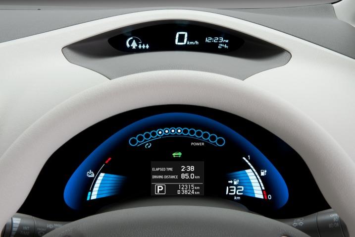 Nissan Leaf Kokpit